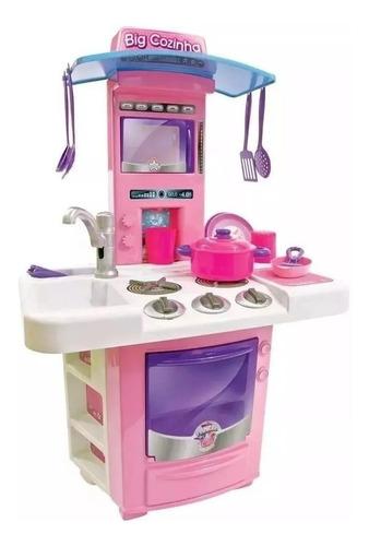Mini Cozinha Infantil Big Star Fogão  C/ Vários Acessórios