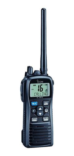 Rádio Icom Ic-m73 Marítimo Portátil Vhf 6w Slim