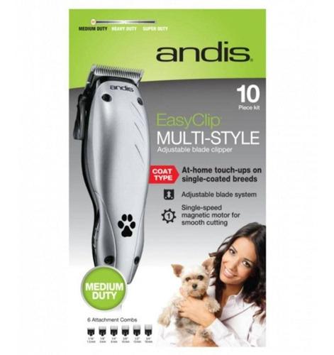 Máquina De Tosar Pet Para Cães Cachorro Andis Easyclip 110v