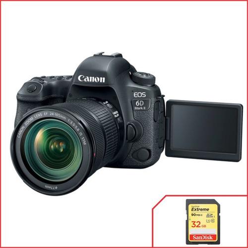 Câmera Canon 6d Mark Ii Com Lente 24 105mm F/3.5 5.6 Is Stm