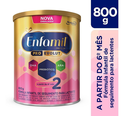 Fórmula Infantil Enfamil Premium 2 - Lata 800g