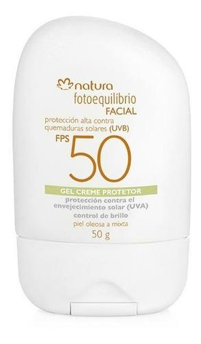 Gel Crema Bloqueador Facial Fps 50 Natura Piel Grasa Mixta