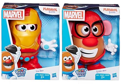 Pack Mr Potato Head Como Homem Aranha E Homem De Ferro E2417