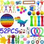 52pcs Pops It Fidget Toy Brinquedos Antistress Toy Kits/ff