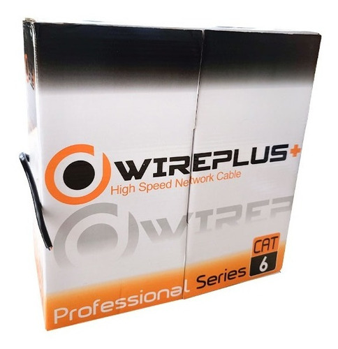 Cable Utp Cat6 Exterior Outdoor Interperie 100mts Wireplus+