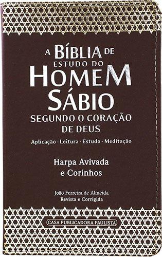 Bíblia De Estudo Do Homem Sábio Harpa Avivada E Corinhos