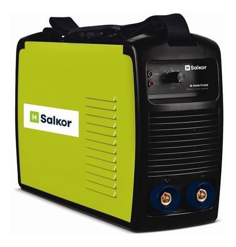Soldadora Inverter Salkor Ie 6200/7/220 Verde 220v