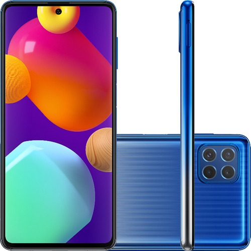 Smartphone Samsung Galaxy M62 Tela 6.7 128 Gb 8 Gb Ram Azul