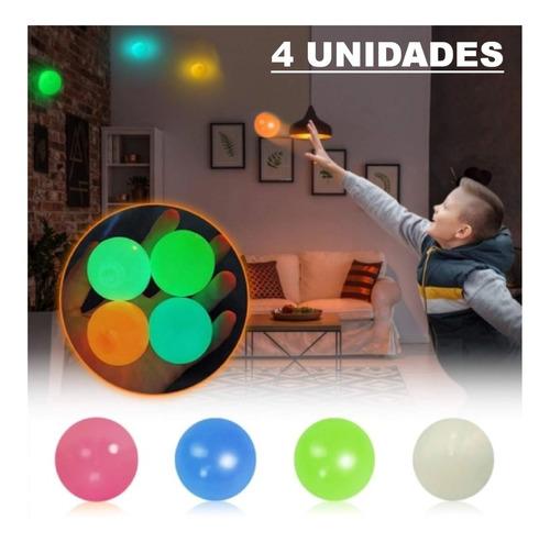 Fidget Toy Bolinha Luminosa Squishy Antistress Gruda No Teto