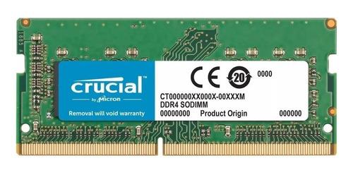 Memoria Ram Color Verde  8gb 1x8gb Crucial Ct102464bf160b