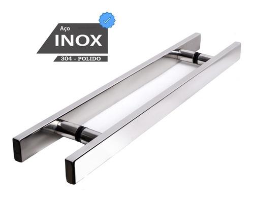 Puxador Aço Inox 30cm P/ Porta De Vidro / Alumínio / Madeira