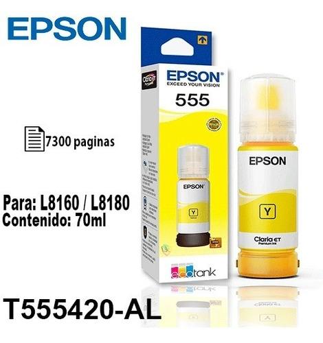 Tinta Epson T555 Amarillo Fotografica Original P/l8160/8180