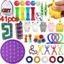 Pop It Fidget Para Kid Of Fidget Cube, Kit Fidget Toys