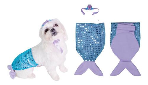 Fantasia Pet Cachorros E Gatos Cauda De Sereia - Super