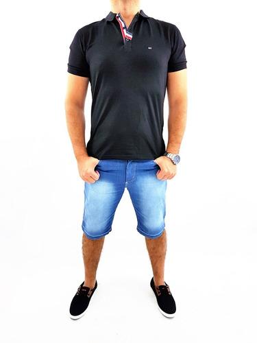 Bermuda Jeans Masculina Slim Com Elastano Do 36 Ao 58