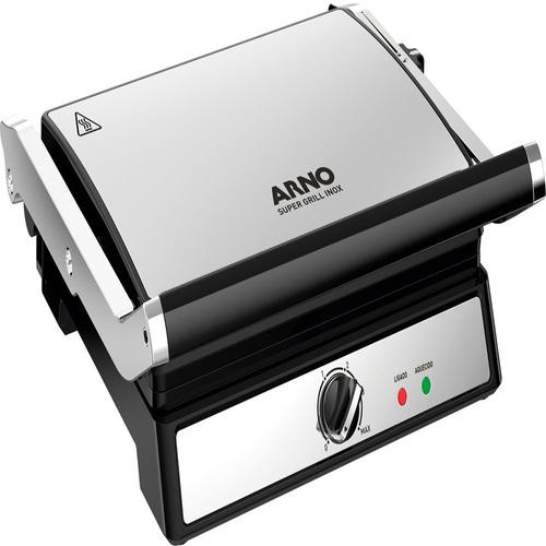 Grill Elétrico Em Inox Com Antiaderente 220v 1200w Arno