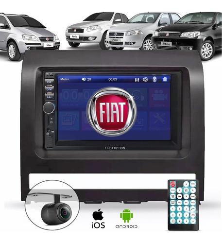 Central Multimídia Mp5 Fiat Moldura 2 Din Câmera De Ré