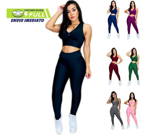 Conjunto 1 Top E 1 Calça Fitness Academia Atacado Revenda