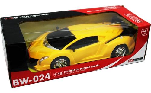 Carro Carrinho Controle Remoto Acende A Luz Do Farol Bw024