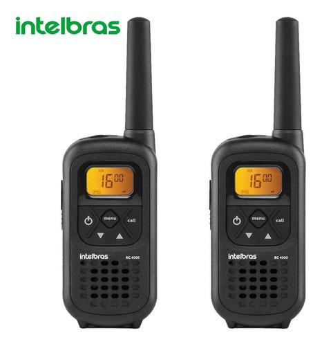 Kit 2 Rádio Comunicador Intelbras Rc4002 Walkie Talkie Preto