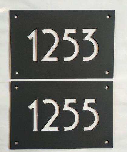 Numero De Puerta Hierro Pintado 23x15cm