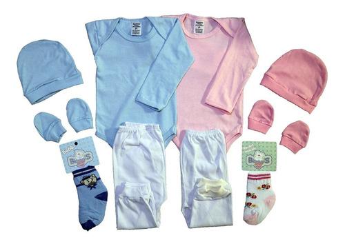 Kit 5 Pçs Maternidade Roupa De Bebê Menina E Menino