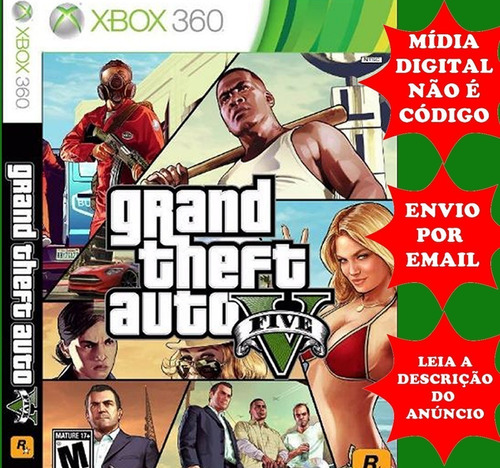 Gta V Xbox 360  Mídia Digital