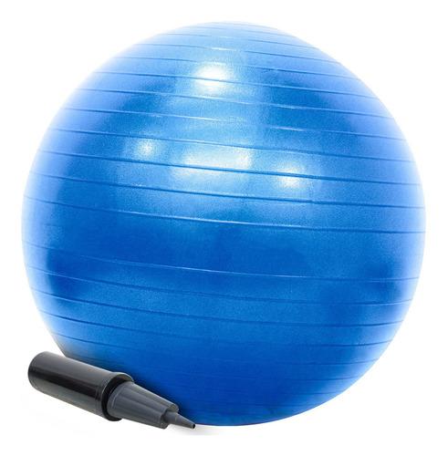 Bola Pilates Suíça 55cm Com Bomba Yoga Abdominais 200kg