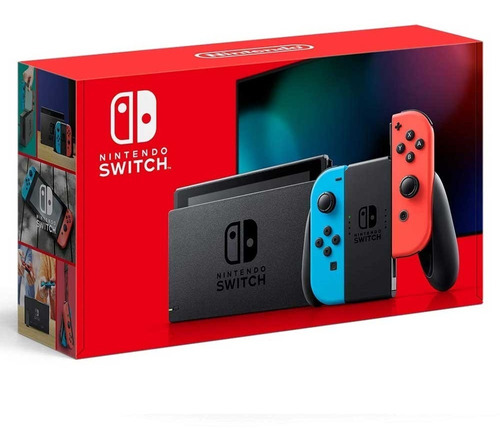 Console New Nintendo Switch 32gb Neon Blue Neon Red Lacrado