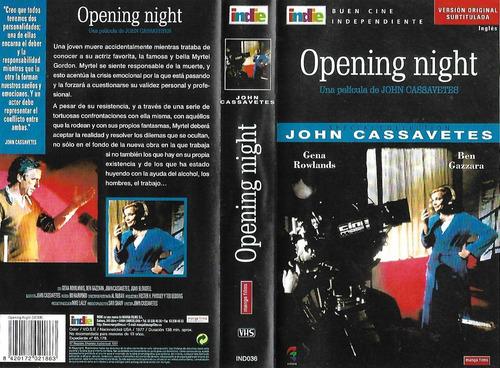 Opening Night Vhs Gena Rowlands Ben Gazzara John Cassavetes