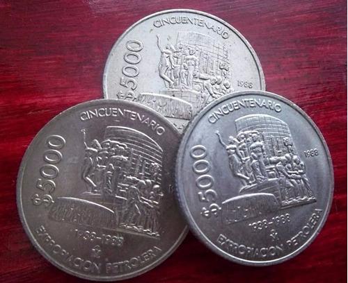 Moneda 5000 Pesos Expropiacion Petrolera