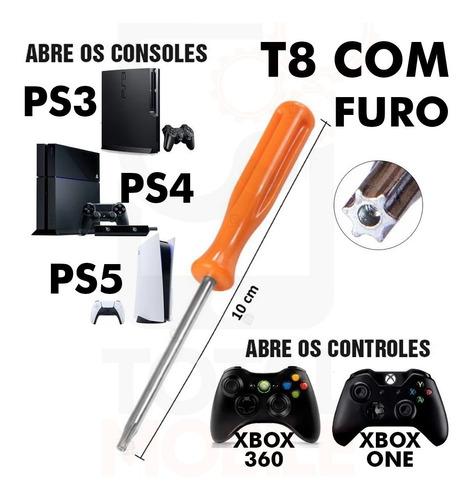 Chave Mini Torx T8 Furo Abrir Ps3 Ps4 Controle Xbox 360 One