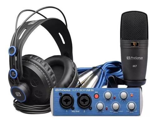 Presonus Audiobox 96 Studio Kit De Gravação M7 Hd7 Usb