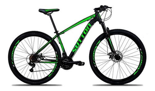 Mountain Bike Sutton New Aro 29 17  24v Freios De Disco Hidráulico Câmbios Shimano Y Shimano Altus Cor Preto/verde