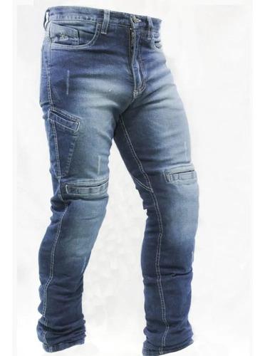 Calça Jeans Com Proteção Moto Masculina Hlx Concept