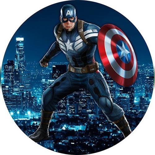 Painel Rendondo Sublimado 3d - Capitão América (1,5x1,5)