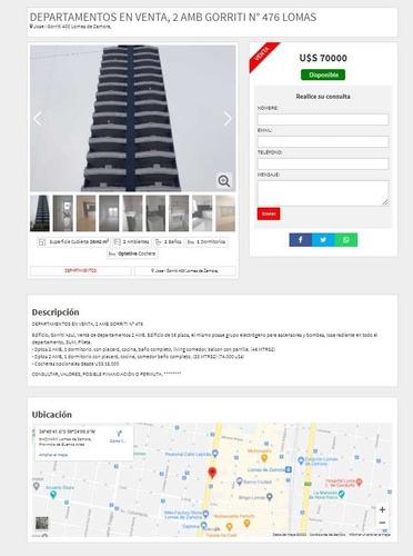 Página Web Para Inmobiliaria - Promo Con Hosting Y Dominio!