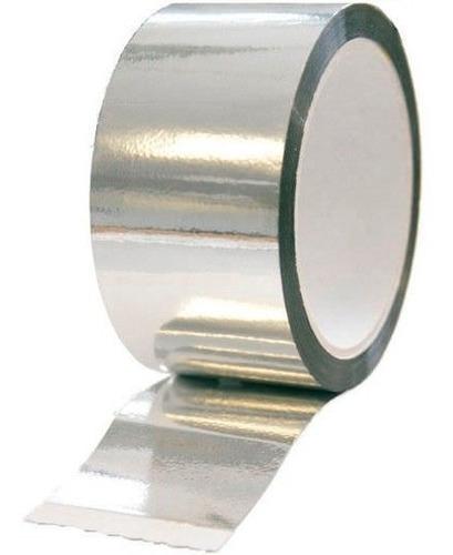 Cinta De Aluminio Autoadhesivo De 50mm X 25 Metros.