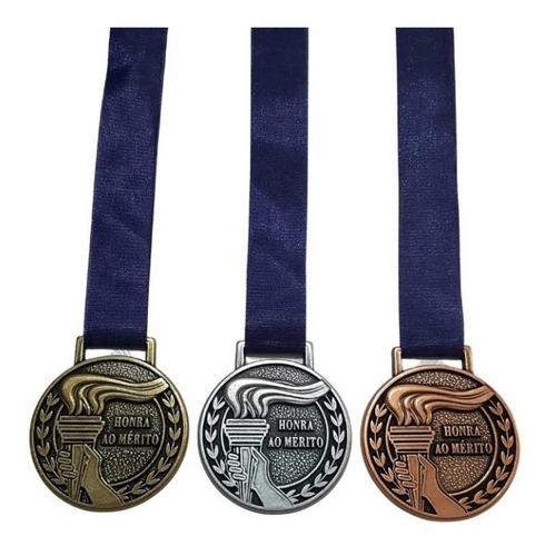 Medalhas Honra Ao Mérito 5.5cm  +grossa +qualidade 3 Peças
