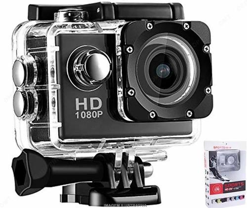 Câmera Filmadora Sport Hd Dv1080 P/capacete Mergulho Bike