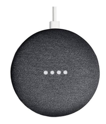 Google Home Mini Con Asistente Virtual Google Assistant Charcoal 110v/220v