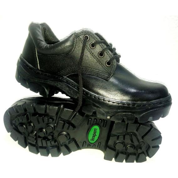 Art 108 Ne Zapato Trabajo Acero Cuero Suela Caucho Krapert