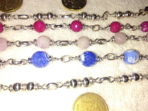 Madre Plata 925  Con Piedras Naturales A $ 500.... Nelson...