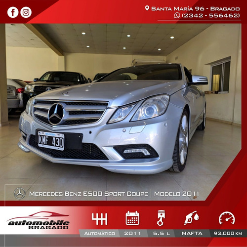 Mercedes-benz Clase E 2011 5.5 Coupe E500 Sport Sport