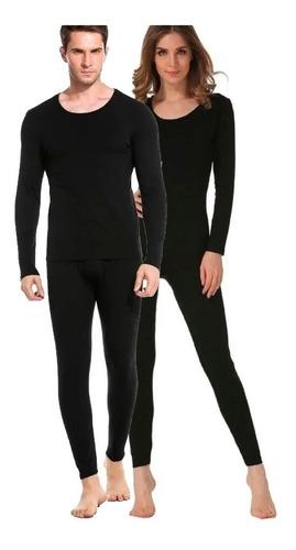 Kit Roupa Térmica Flanelada Conjunto Com 2 Calças + 2 Blusas Segunda Pele Masculino E Feminino, Vestem Do 36 Até 46