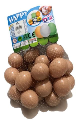 Kit 12 Ovos Falsos Brincadeira Plástico Para Indez Galinha