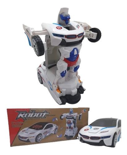 Carro Vira Robo Emite Som Luz Carrinho Bmw Brinquedo Menino