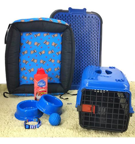 Kit Caminha Transporte Casinha Plástica Para Cães Promoção