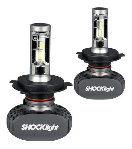Kit Lampada Led Automotiva Ultra Led Shock Light Encaixe H4