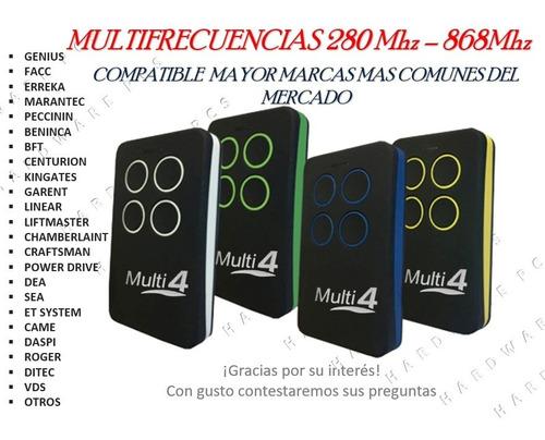 Control Remoto Puertas Eléctricas Multifrecuencia